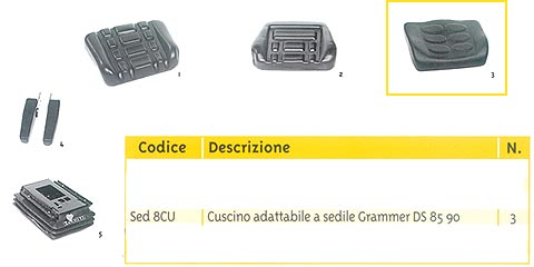 CUSCINO X SED/RECL. TIPO DS8590